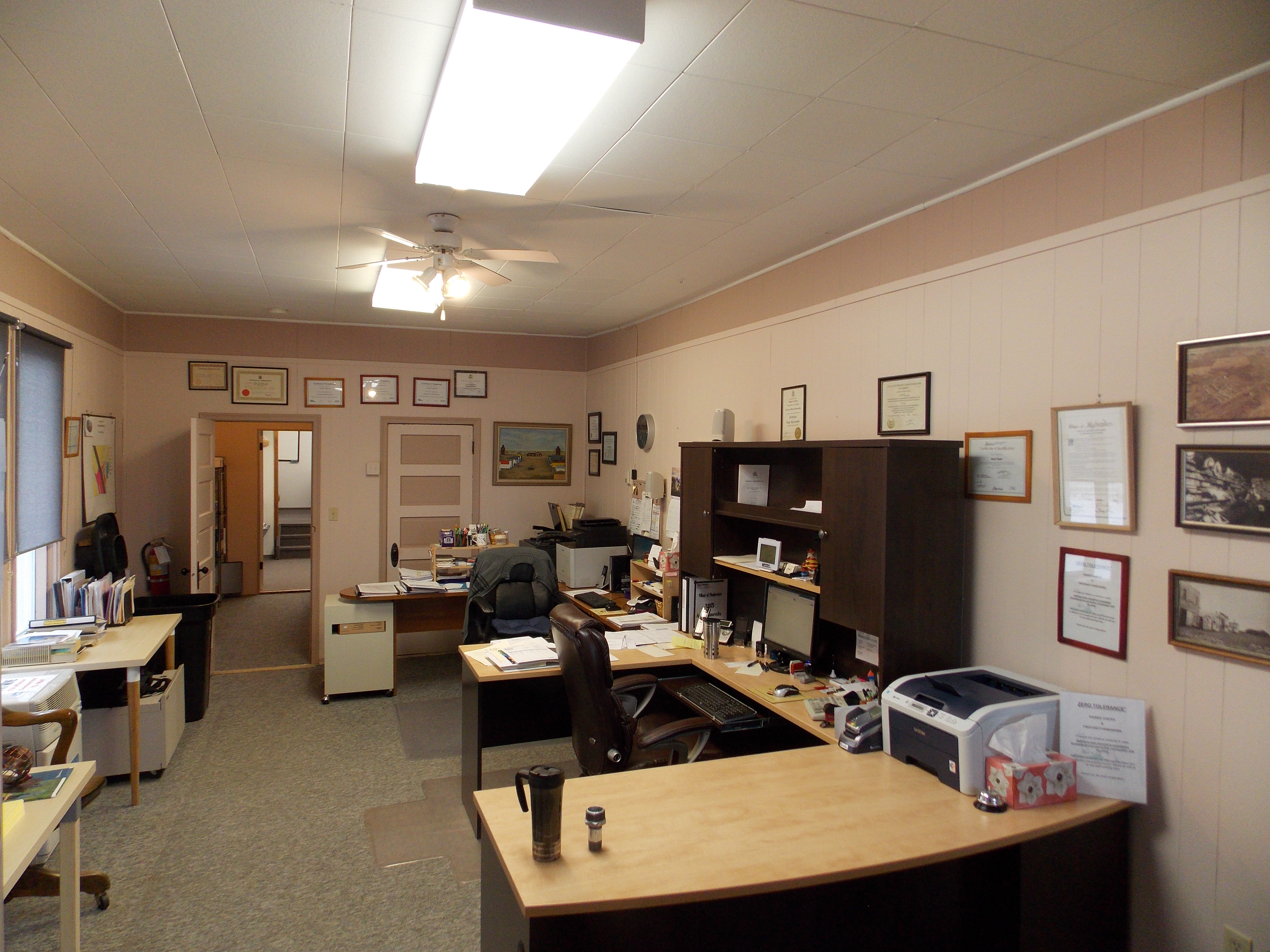 Village government village of hughenden for Picture of an office